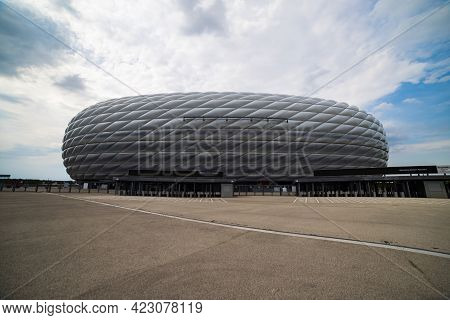 Famous Allianz Arena Stadium In Munich - Home Of Famous Soccer Club Fc Bayern Muenchen - Munich, Ger