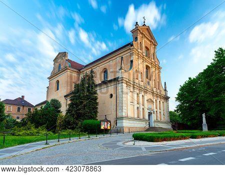 Poznan. Church Of St. Joseph Of Discalced Carmelites At Sunrise.