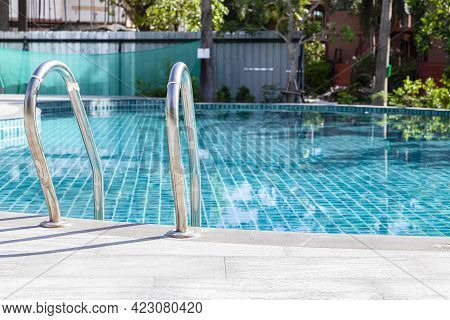 The Swimming Pool Is Empty, There Is No One To Swim In The Resort