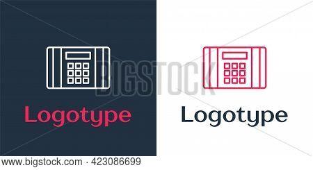 Logotype Line Detonate Dynamite Bomb Stick Icon Isolated On White Background. Time Bomb - Explosion