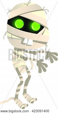 Mummy Vector Illustration. Zombie, Monster, Outfit. Halloween Concept. Vector Illustration Can Be Us