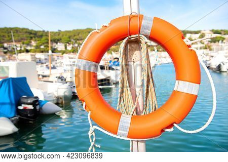 Harbor for sail-yachts and other recreational boats with life buoy