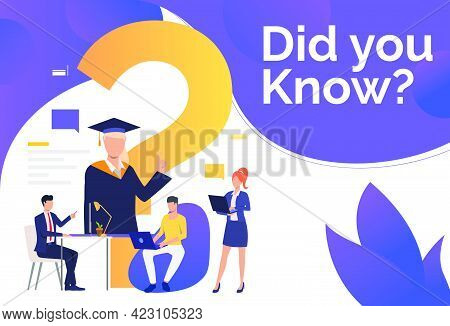 Business People Browsing On Laptops Vector Illustration. Faq, Help Information, Inquiry. Search Engi