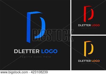 Modern 3d Letter D Logo Design. Letter D Logo Template Design. Creative Letter D Logo Design Vector