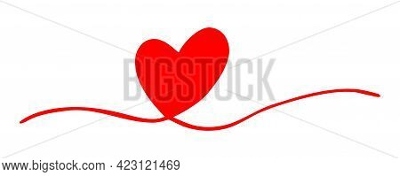 Tangled Grungy Heart Scribble Isolated On White Background