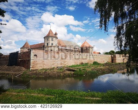 Fagaras Medieval Fortress In Brasov County - Transylvania Romania .