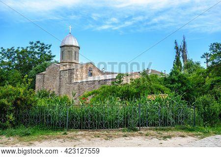 Orthodox Church Of John The Baptist And Its Garden, Feodosia, Crimea. It Was Originally Built In 134