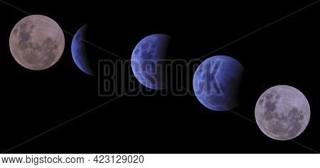 Photograph Of A Total Lunar Eclipse From The Blue Mountains In New South Wales On The East Coast Of