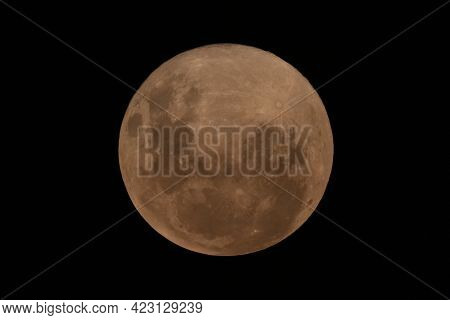 Photograph Of The Pink Super Moon From The Blue Mountains In New South Wales In Australia