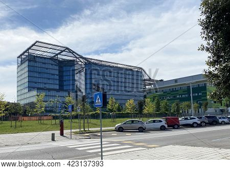 Bologna - Italy - April 30, 2021: Palazzo Bonaccorso, Hq Of The Municipality Of Bologna. Italy