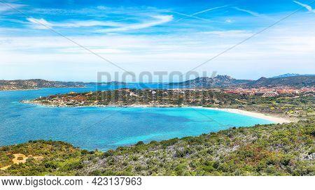 Fantastic View Of La Sciumara Beach In Palau. Picturesque Seascape Of Mediterranean Sea. Location: P