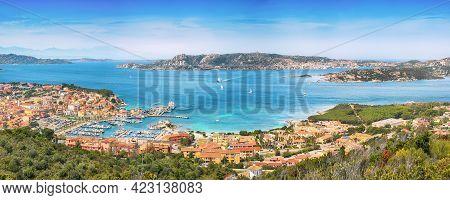 Breathtaking View On Palau Port And Santo Stefano With La Maddalena Islands. Location: Palau, Provin