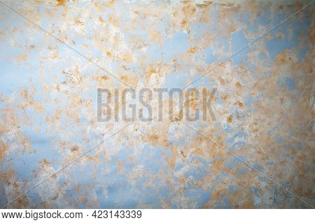 Abstract Textured Gray Blue Ocher Acrylic Watercolor Background