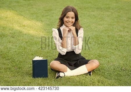 Tradition Of Excellence. Small Girl Reading Book. Literature For Kids. Write Childhood Memories. Her