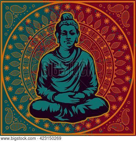 Gautama Buddha Sitting In The Lotus Position