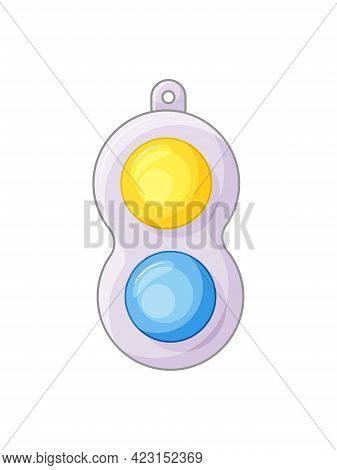 Simple Dimple Antistress Toy On White Background. Antistress Toys Fidget Sensory Pop It And Simple D