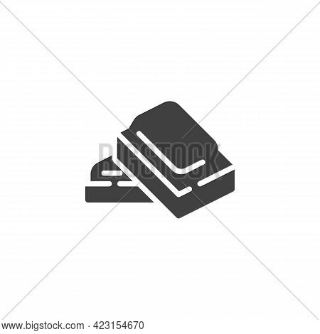 Chocolate Pieces Vector Icon. Filled Flat Sign For Mobile Concept And Web Design. Square Piece Of Ch