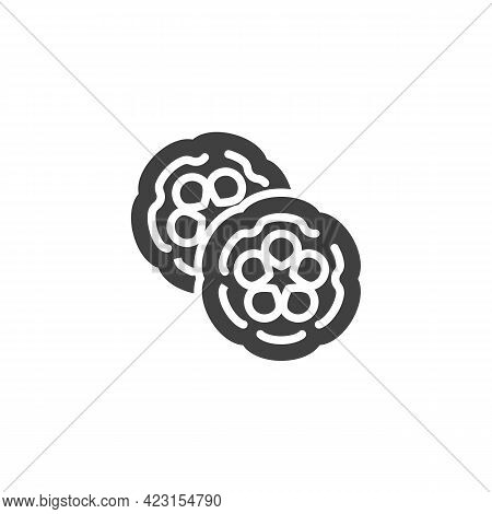 Cocoa Pod Seed Vector Icon. Filled Flat Sign For Mobile Concept And Web Design. Cocoa Bean Glyph Ico
