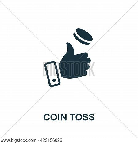 Coin Toss Icon. Monochrome Simple Element From Fortune Teller Collection. Creative Coin Toss Icon Fo
