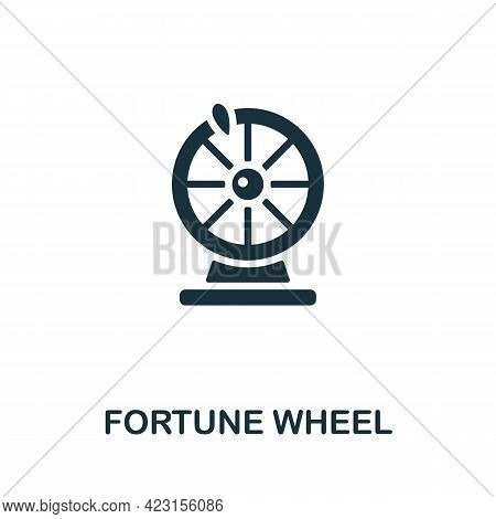 Fortune Wheel Icon. Monochrome Simple Element From Fortune Teller Collection. Creative Fortune Wheel