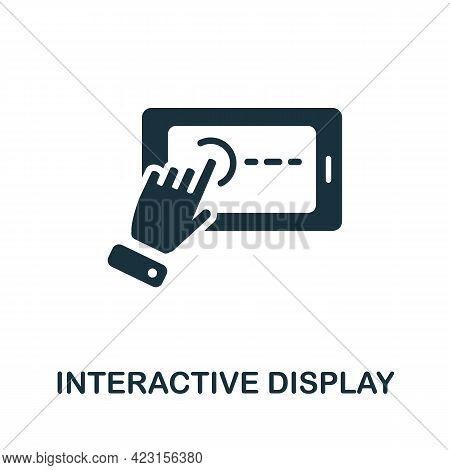Interactive Display Icon. Monochrome Simple Element From Presentation Collection. Creative Interacti