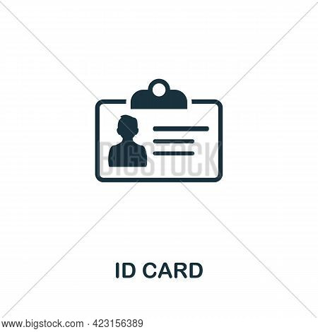 Id Card Icon. Monochrome Simple Element From Presentation Collection. Creative Id Card Icon For Web
