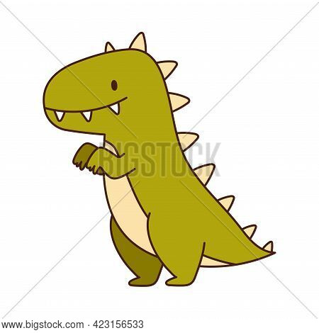 Stuffed Dinosaur Toy For Children To Play Vector Illustration