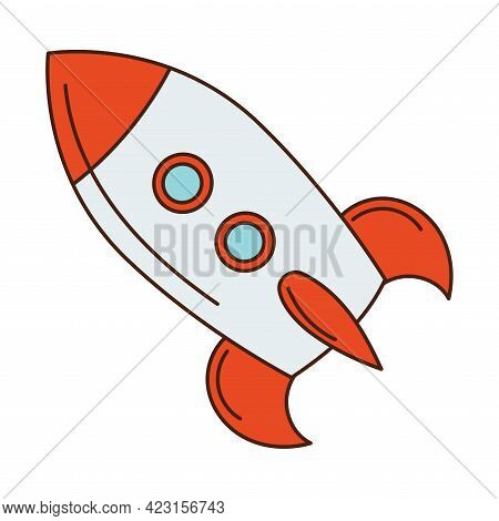 Toy Rocket Or Spacecraft For Children To Play Vector Illustration