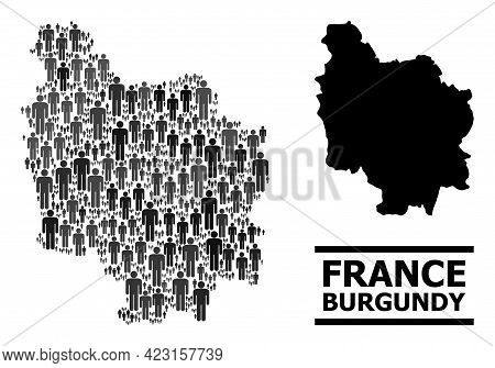 Map Of Burgundy Province For Political Agitation. Vector Demographics Abstraction. Abstraction Map O