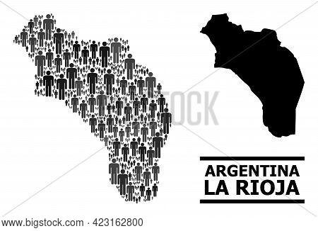 Map Of Argentina - La Rioja For Demographics Agitprop. Vector Population Abstraction. Concept Map Of