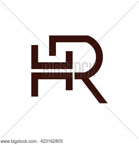 Hr Design Logo Business. Hr Letter Design Vector
