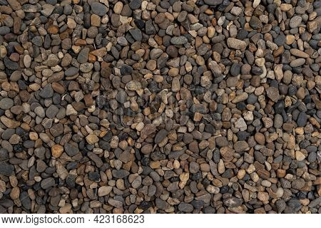 Background Made Of A Closeup Of A Pile Of Pebbles Of Sea Stones, Background From Sea Stones For Desi