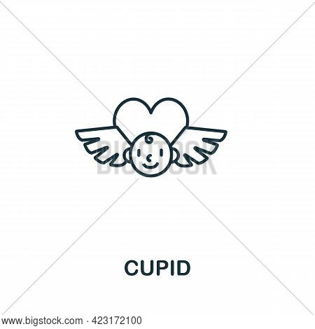 Cupid Icon From Valentines Day Collection. Simple Line Element Cupid Symbol For Templates, Web Desig