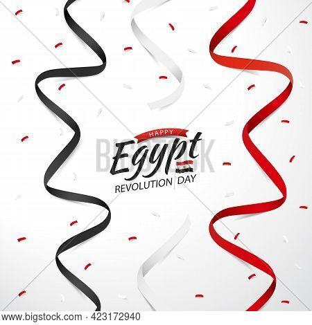 Vector Illustration On The Theme Revolution Day Egypt.