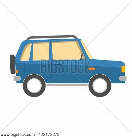 Travel Car. Toy Kid Isolated Icon. Llustration Vector Eps10.