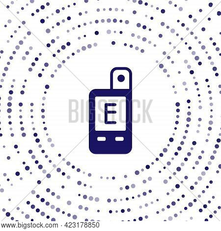 Blue Light Meter Icon Isolated On White Background. Hand Luxmeter. Exposure Meter - A Device For Mea