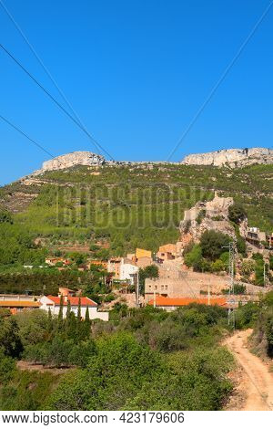 Historic village Pratdip in the mountains in Spain