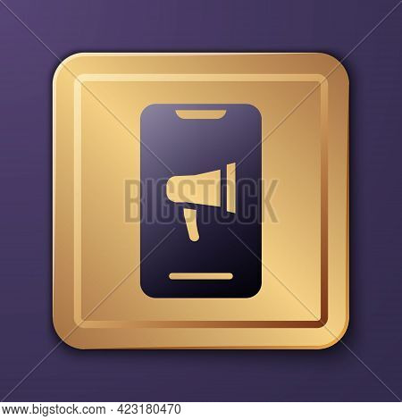 Purple Protest Icon Isolated On Purple Background. Meeting, Protester, Picket, Speech, Banner, Prote