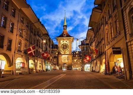 Zytglogge Is A Landmark Medieval Clock Tower In Bern City In Switzerland