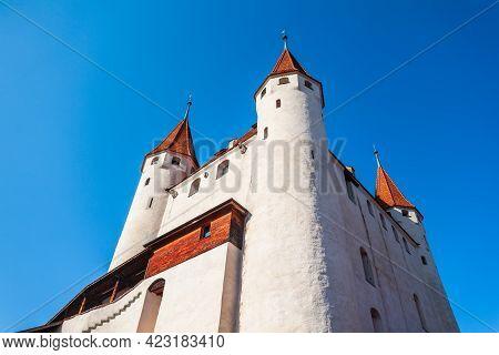 Schloss Thun Castle Is A Medieval Castle In Thun City In Bern Canton Of Switzerland