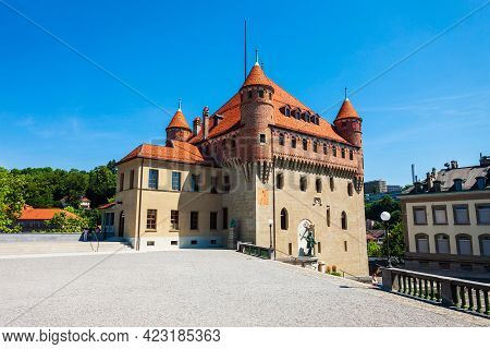 Chateau Saint-maire Or Saint Maire Castle Is A Medieval Castle In Lausanne City, Which Located On Sh