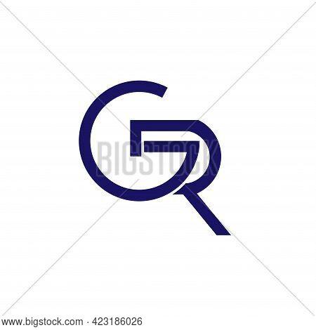 Gr Design Logo Vector. Gr Letter Design Logo Business