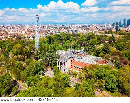 Torre Branca Tower Is An Iron Panoramic Tower Located In Parco Sempione The Main City Park Of Milan