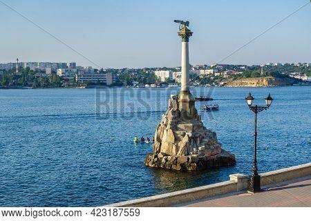 Monument To The Sunken Ships In Sevastopol, Crimea. It's Built In 1905 In Memory Of Siege Of City Du