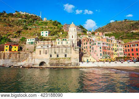 Vernazza Is A Small Town In Cinque Terre National Park, La Spezia Province In Liguria Region, Northe