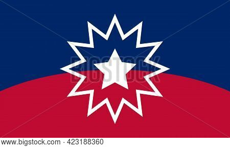 Juneteenth Flag. Since 1865. Vector Illustration With Red And Blue Color