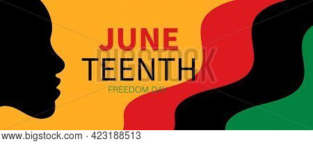 Juneteenth Independence Day. Freedom Or Emancipation Day. Design For Banner, Background And Others.