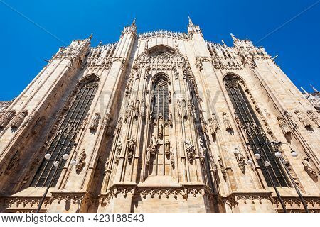 Milan Cathedral Or Duomo Di Milano Is The Cathedral Church Located At The Piazza Del Duomo Square In