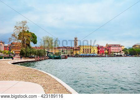 Riva Del Garda Is A Town At The Northern Tip Of The Lake Garda In The Trentino Alto Adige Region In