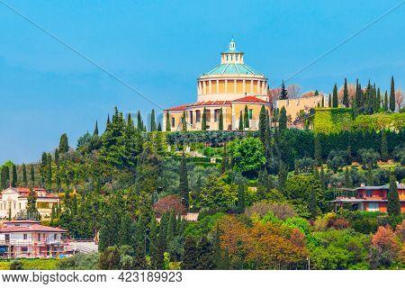 Sanctuary Of The Madonna Of Lourdes Or Santuario Della Madonna Di Lourdes In Verona, Veneto Region I